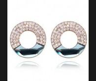 Swarovski kristallidega 18K kullatud kõrvarõngad