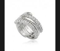 Swarovski kristallidega 18K kullatud sõrmus