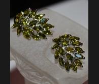 18K kullatud kõrvarõngad kristallidega